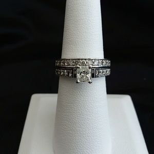 Jewelry - 1.5 carat diamond wedding set 3/4 Carat Center!